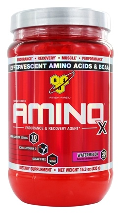 DROPPED: BSN - Amino X BCAA Powder Endurance and Recovery Agent Watermelon - 15.3 oz.