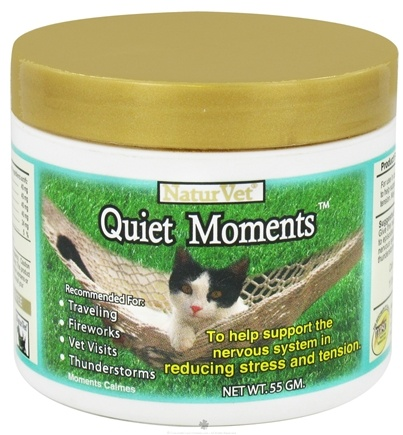 DROPPED: NaturVet - Quiet Moments Calming Aid Powder For Cats - 0.55 Gram(s) CLEARANCE PRICED