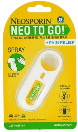 DROPPED: Neosporin - Neo To Go First Aid Antiseptic Pain Relieving Spray - 0.26 oz. CLEARANCE PRICED