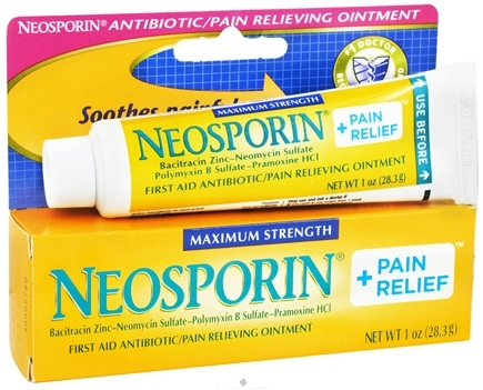 DROPPED: Neosporin - First Aid Antiobiotic Pain Relieving Ointment Maximum Strength - 1 oz. CLEARANCE PRICED