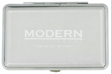DROPPED: Modern Smoke - Electronic Cigarette Carrying Case Silver - CLEARANCE PRICED