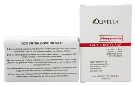 DROPPED: Olivella - Virgin Olive Oil Face & Body Bar Soap Pomegranate - 5.29 oz.
