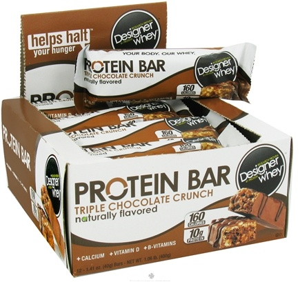 DROPPED: Designer Protein - Designer Whey Protein Bar Triple Chocolate Crunch - 1.41 oz. CLEARANCE PRICED