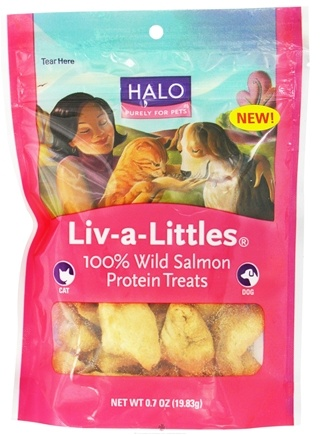 Zoom View - Liv-A-Littles 100% Wild Salmon Protein Treats