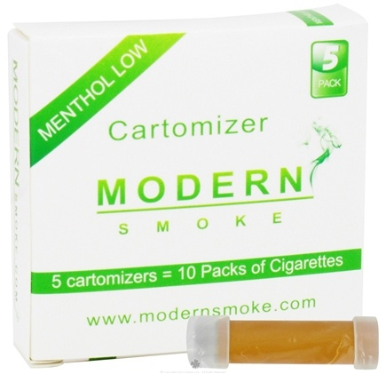 DROPPED: Modern Smoke - Electronic Cigarette Cartomizer Menthol Flavor Low Nicotine 6 mg. - 5 Pack(s) CLEARANCE PRICED