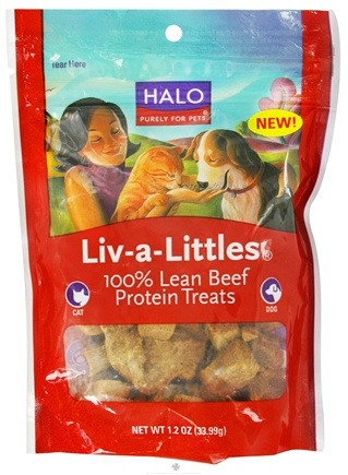 DROPPED: Halo Purely for Pets - Liv-A-Littles 100% Lean Beef Protein Treats - 1.2 oz. CLEARANCE PRICED