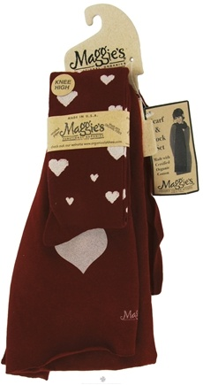 DROPPED: Maggie's Organics - Scarf & Sock Organic Gift Set Choose Love Maroon - CLEARANCE PRICED