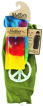 Zoom View - Scarf & Sock Organic Gift Set Tie Dye