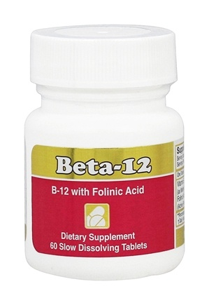 Intensive Nutrition, Inc. - Beta-12 1 mg. - 60 Lozenges