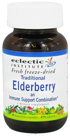 DROPPED: Eclectic Institute - Traditional Elderberry Fresh Freeze-Dried 475 mg. - 90 Vegetarian Capsules CLEARANCE PRICED