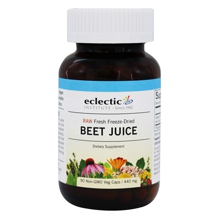 Eclectic Institute - Beet Juice Fresh Freeze-Dried 440 mg. - 90 Vegetarian Capsules