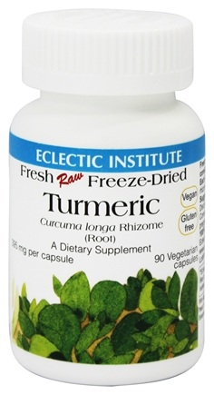 Eclectic Institute - Turmeric Root Fresh Raw Freeze-Dried 395 mg. - 90 Vegetarian Capsules