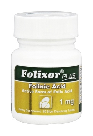 Intensive Nutrition, Inc. - Folixor Plus Folinic Acid 1 mg. - 60 Tablets