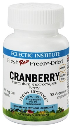 Eclectic Institute - Cranberry Fresh Raw Freeze-Dried 300 mg. - 90 Vegetarian Capsules
