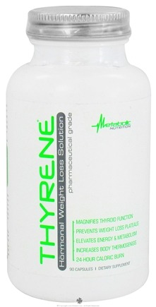 DROPPED: Metabolic Nutrition - Thyrene Hormonal Weight Loss Solution - 90 Capsules CLEARANCE PRICED