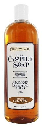 Shadow Lake - Pure Castile Soap Fresh Ginger - 16 oz.