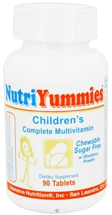 DROPPED: Intensive Nutrition, Inc. - NutriYummies Children's Complete Multivitamins - 90 Tablets CLEARANCE PRICED