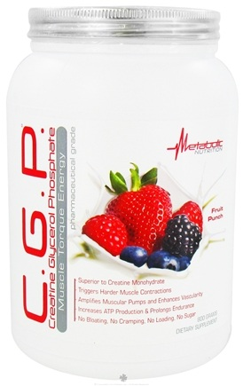 DROPPED: Metabolic Nutrition - C.G.P. Creatine Glycerol Phosphate Muscle Torque Energy Fruit Punch - 800 Grams CLEARANCE PRICED