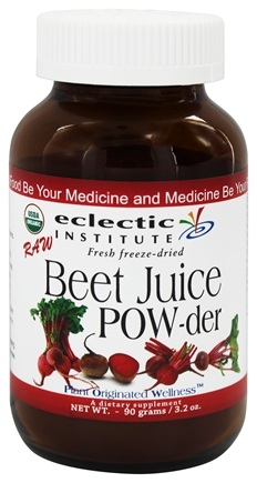 Eclectic Institute - Beet Juice Powder Raw Fresh Freeze-Dried - 90 Grams