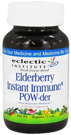 DROPPED: Eclectic Institute - Elderberry Instant Immune Powder Fresh Freeze-Dried - 60 Grams CLEARANCE PRICED