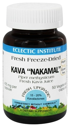 Eclectic Institute - Kava Nakamal Juice Fresh Freeze-Dried 425 mg. - 50 Vegetarian Capsules