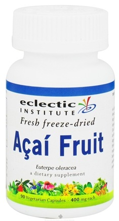 DROPPED: Eclectic Institute - Acai Fruit Fresh Freeze-Dried 400 mg. - 90 Vegetarian Capsules CLEARANCE PRICED