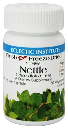 Eclectic Institute - Stinging Nettle Leaf Fresh Raw Freeze-Dried 300 mg. - 50 Vegetarian Capsules