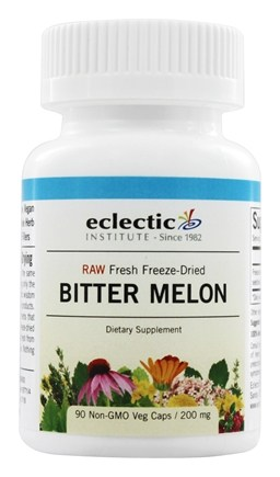 Eclectic Institute - Bitter Melon Whole Fruit Fresh Raw Freeze-Dried 200 mg. - 90 Vegetarian Capsules