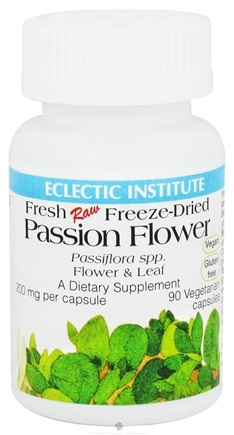 DROPPED: Eclectic Institute - Passion Flower & Leaf Fresh Raw Freeze-Dried 200 mg. - 90 Vegetarian Capsules CLEARANCE PRICED