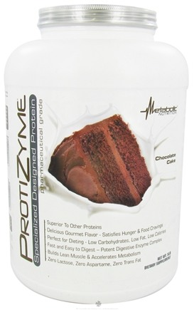 DROPPED: Metabolic Nutrition - ProtiZyme Specialized Designed Protein Chocolate Cake - 5 lbs. CLEARANCE PRICED
