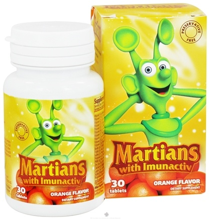 DROPPED: Natural Choice New York - Martians with Immunactiv Orange Flavor - 30 Tablets CLEARANCE PRICED