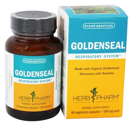DROPPED: Herb Pharm - Goldenseal 540 mg. - 60 Vegetarian Capsules