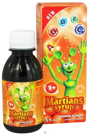 DROPPED: Natural Choice New York - Martians Syrup Orange Flavor - 5 oz. CLEARANCE PRICED