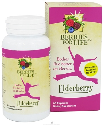 DROPPED: Berries for Life - Elderberry for Immune Health - 60 Capsules CLEARANCE PRICED