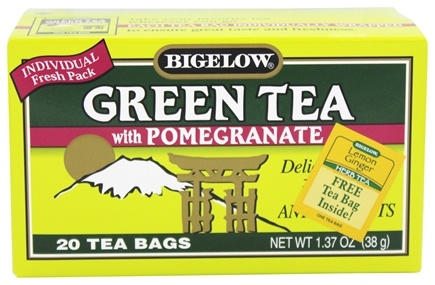 Bigelow Tea - Green Tea with Pomegranate - 20 Tea Bags