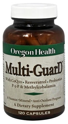 DROPPED: Oregon Health - Multi-GuarD with CoQ10, Resveratrol, Probiotics, P-5-P & Methylcobalamin - 120 Capsules