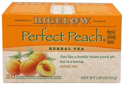 Bigelow Tea - Herb Tea All Natural Caffeine Free Perfect Peach - 20 Tea Bags