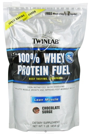 DROPPED: Twinlab - 100% Whey Protein Fuel Chocolate Surge - 1 lb.