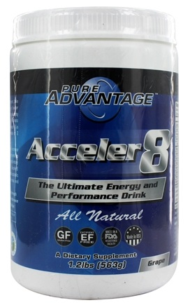 Pure Advantage - Acceler8 Grape Flavor - 1.2 lbs.