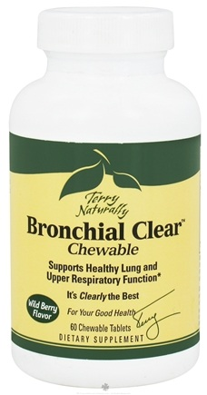 DROPPED: EuroPharma - Terry Naturally Bronchial Clear Chewable Wild Berry Flavor - 60 Chewable Tablets CLEARANCE PRICED