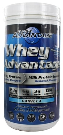 DROPPED: Pure Advantage - Whey Advantage Vanilla Flavor - 2.2 lbs.