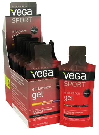 DROPPED: Vega - Vega Sport Natural Plant Based Endurance Gel Raspberry - 1.6 oz.
