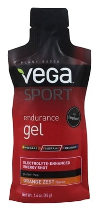 DROPPED: Vega - Vega Sport Natural Plant Based Endurance Gel Orange Zest - 1.6 oz.