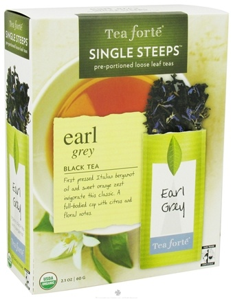 DROPPED: Tea Forte - Black Tea Organic Single Steeps Earl Grey - 12 Packet(s) CLEARANCE PRICED
