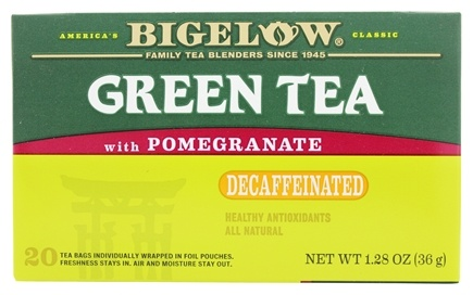 Zoom View - Green Tea Decaffeinated with Pomegranate