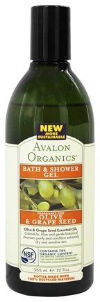DROPPED: Avalon Organics - Bath & Shower Gel Olive & Grape Seed Fragrance-Free - 12 oz.
