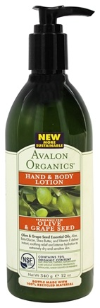 DROPPED: Avalon Organics - Hand & Body Lotion Olive & Grape Seed Fragrance-Free - 12 oz.