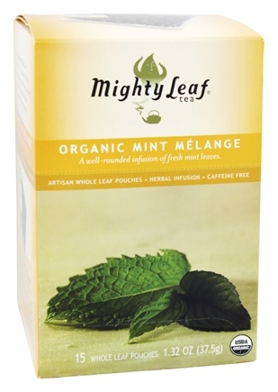 Mighty Leaf - Herbal Infusion Organic Mint Melange - 15 Tea Bags