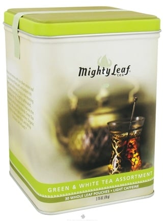 DROPPED: Mighty Leaf - Assorted Whole Leaf Tea Green & White - 30 Tea Bags