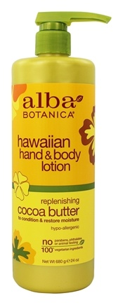 Alba Botanica - Alba Hawaiian Hand & Body Lotion Cocoa Butter - 24 oz.